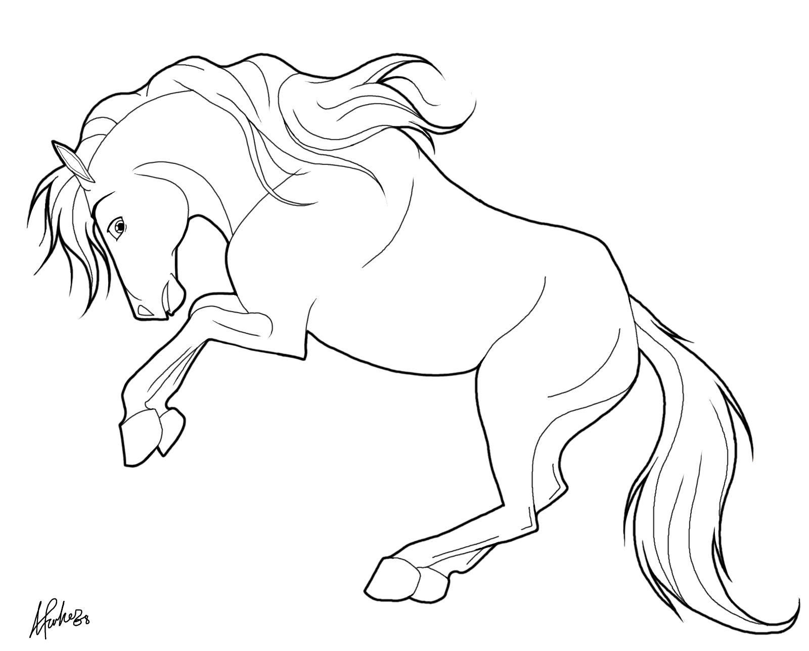 Coloriage Cheval Dressage