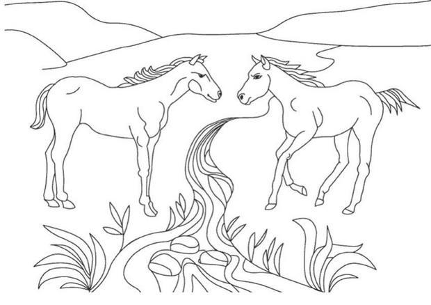 coloriage cheval playmobil
