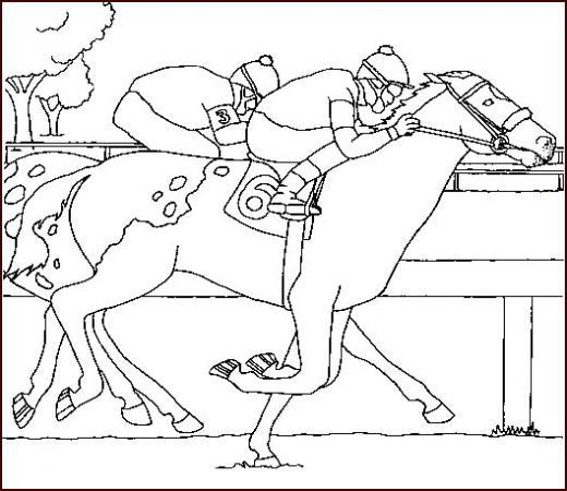 colorier cheval gratuit