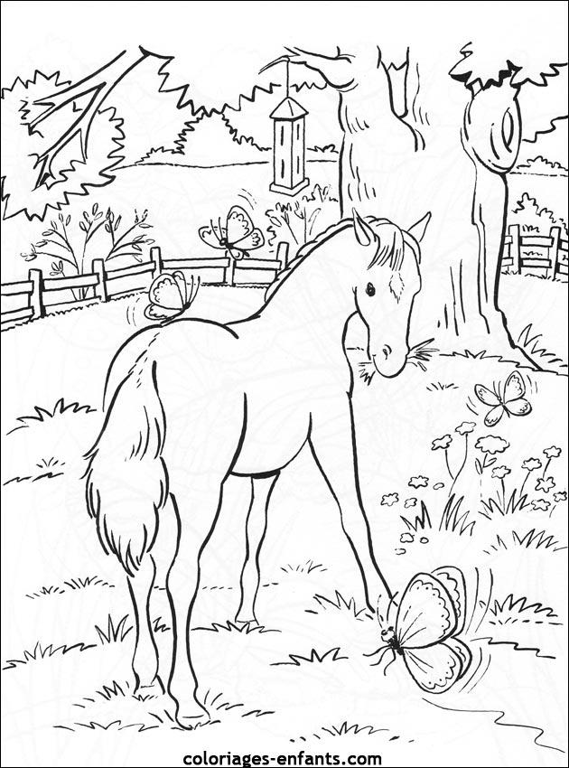 coloriage cheval magique imprimer