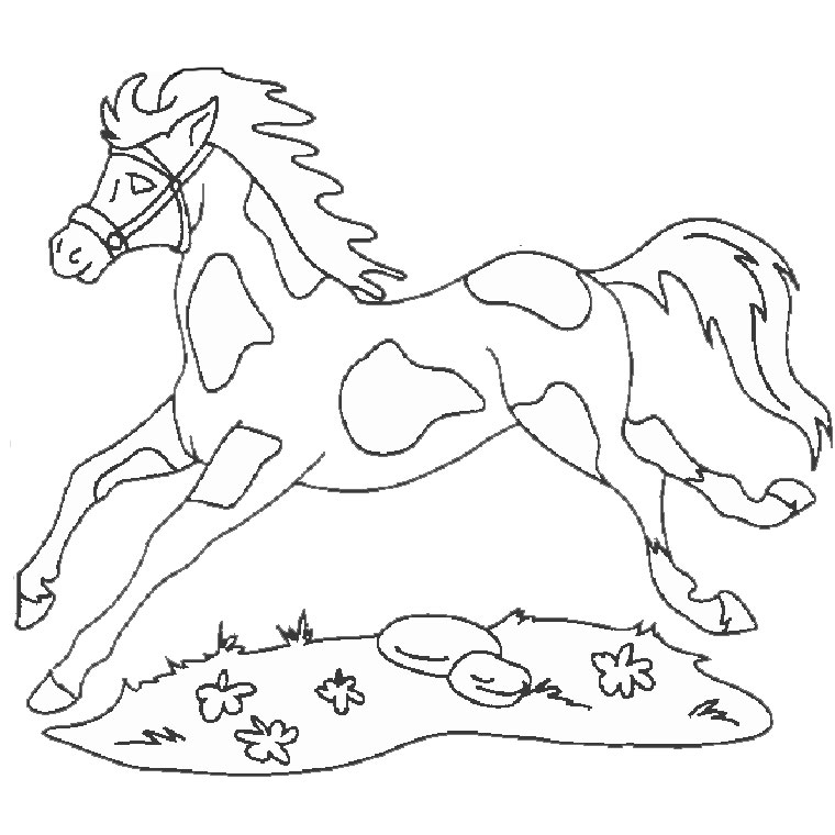 Hugo l 39 escargot coloriage cheval - Chevaux a colorier ...