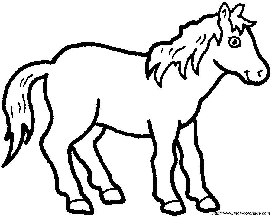 coloriage cheval à colorier en ligne