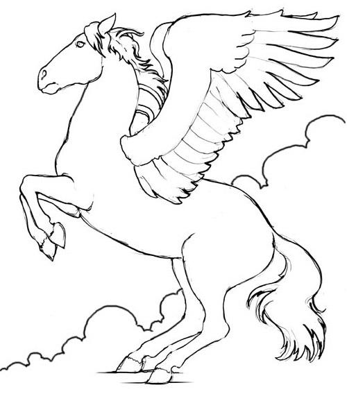 coloriage cheval à imprimer gratuit