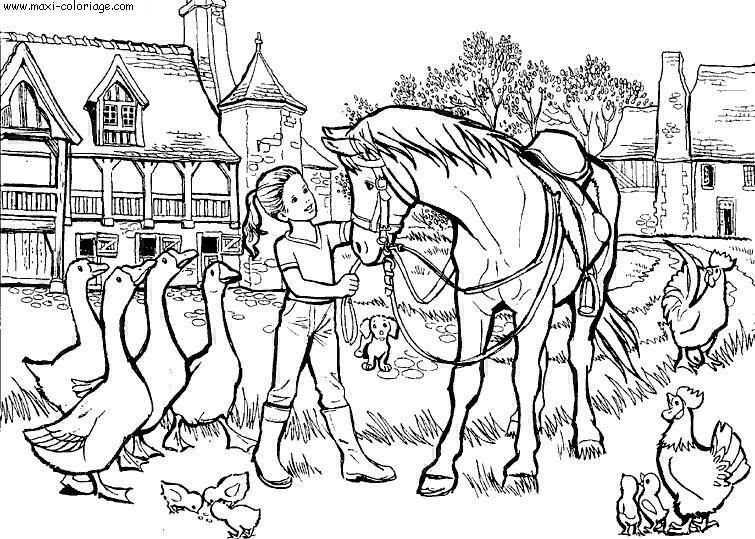 coloriage interactif chevaux