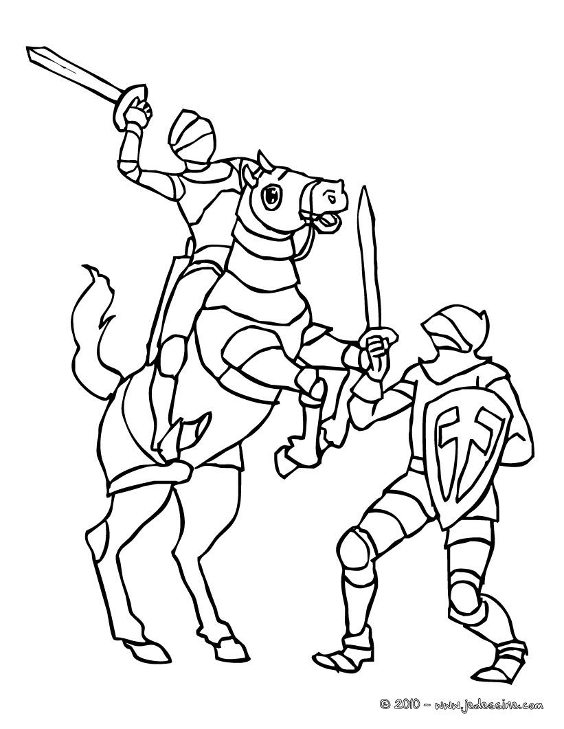 coloriage chevalier a imprimer gratuit