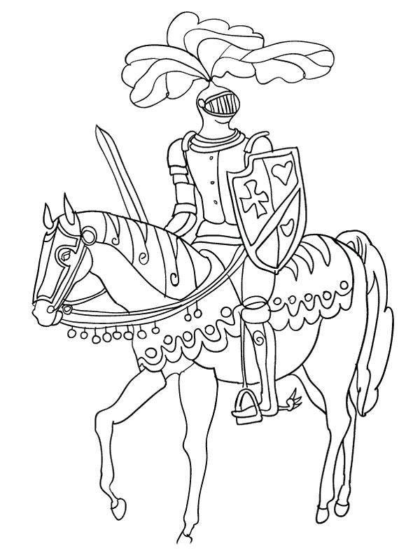 20 dessins de coloriage chevalier imprimer gratuit - Dessin chevalier ...