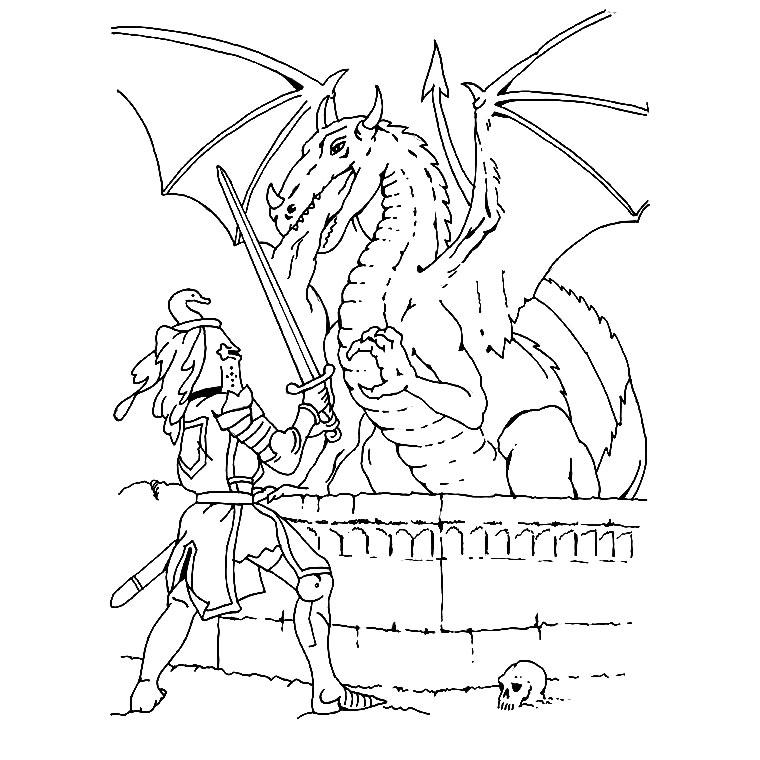20 dessins de coloriage chevalier imprimer gratuit - Dessin gratuits ...