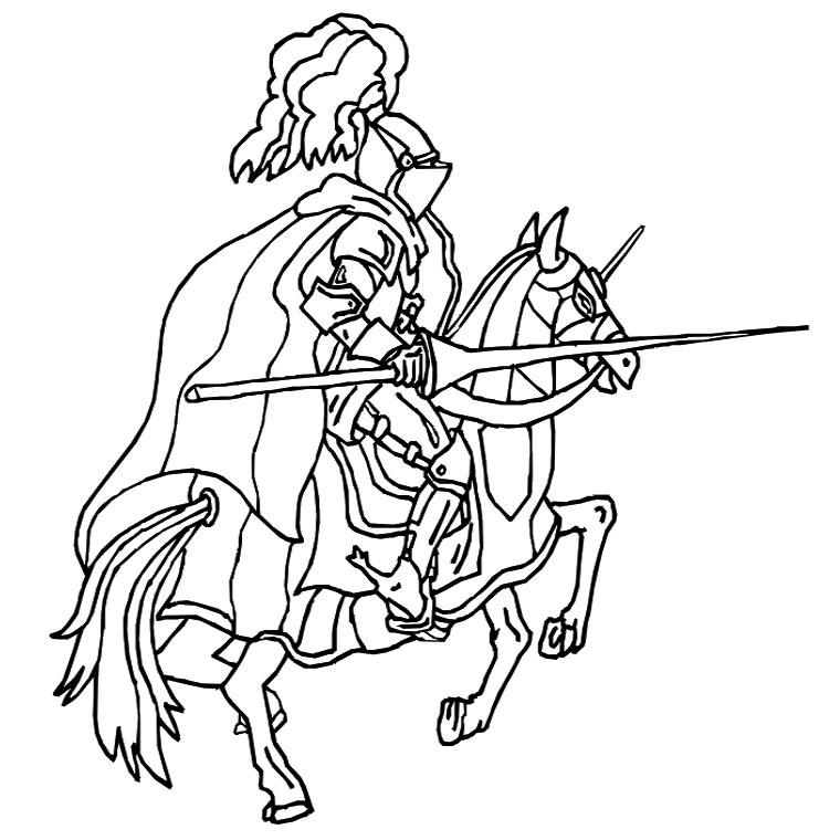 20 dessins de coloriage chevalier imprimer gratuit imprimer - Coloriage moyen age ...
