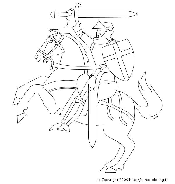 20 dessins de coloriage chevalier à imprimer à imprimer