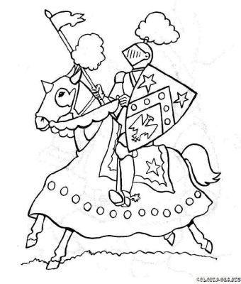 20 dessins de coloriage chevalier imprimer imprimer - Dessin chevalier ...
