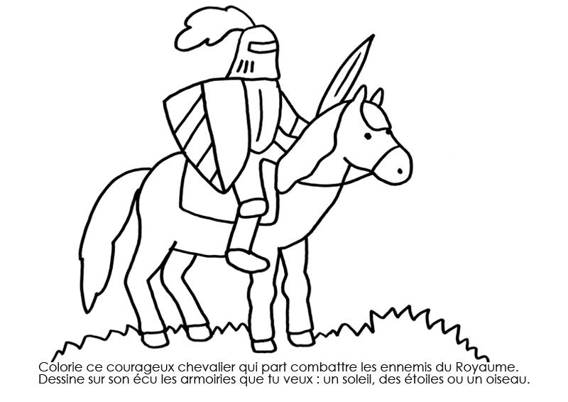 20 Dessins De Coloriage Chevalier A Imprimer A Imprimer
