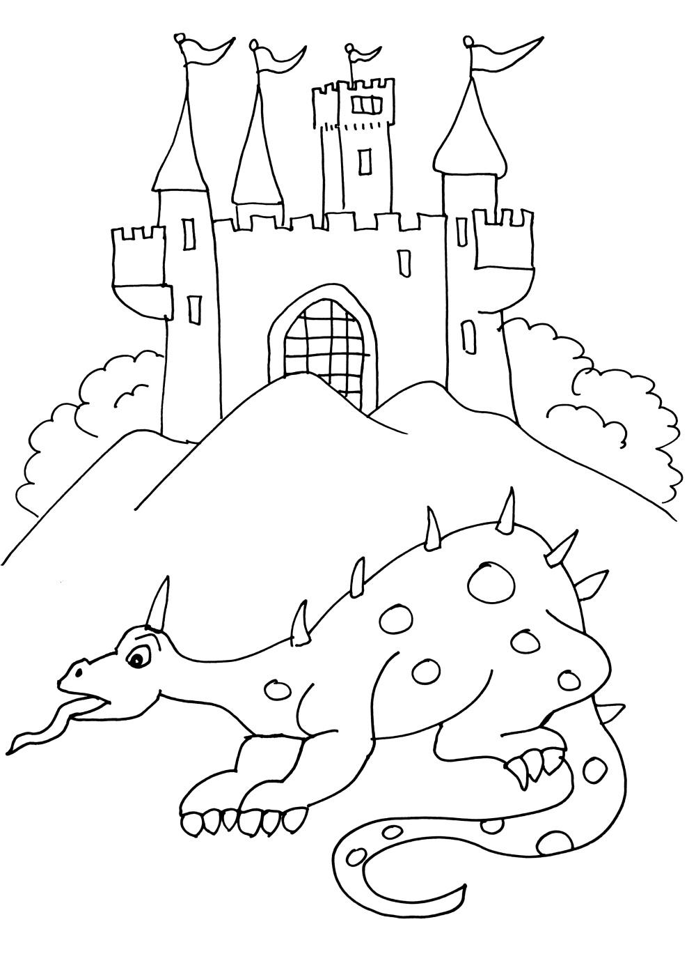 18 dessins de coloriage chevalier dragon imprimer - Dessin anime chevalier de la table ronde ...