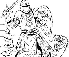 18 dessins de coloriage chevalier dragon imprimer - Coloriage magique chevalier ...
