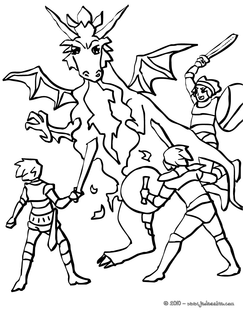 18 dessins de coloriage chevalier dragon imprimer - Dragon a colorier ...