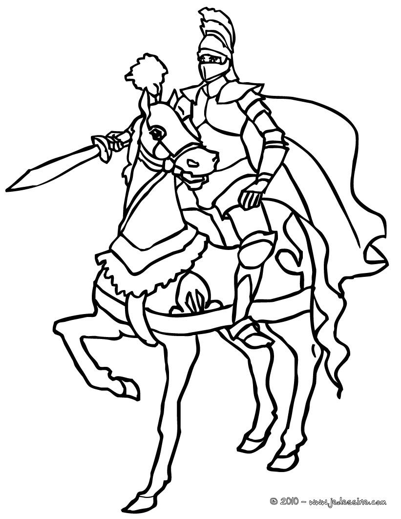 20 dessins de coloriage chevalier en ligne imprimer - Coloriages en lignes ...