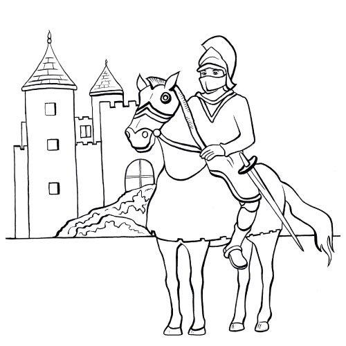 20 dessins de coloriage chevalier en ligne imprimer - Dessin chevalier ...