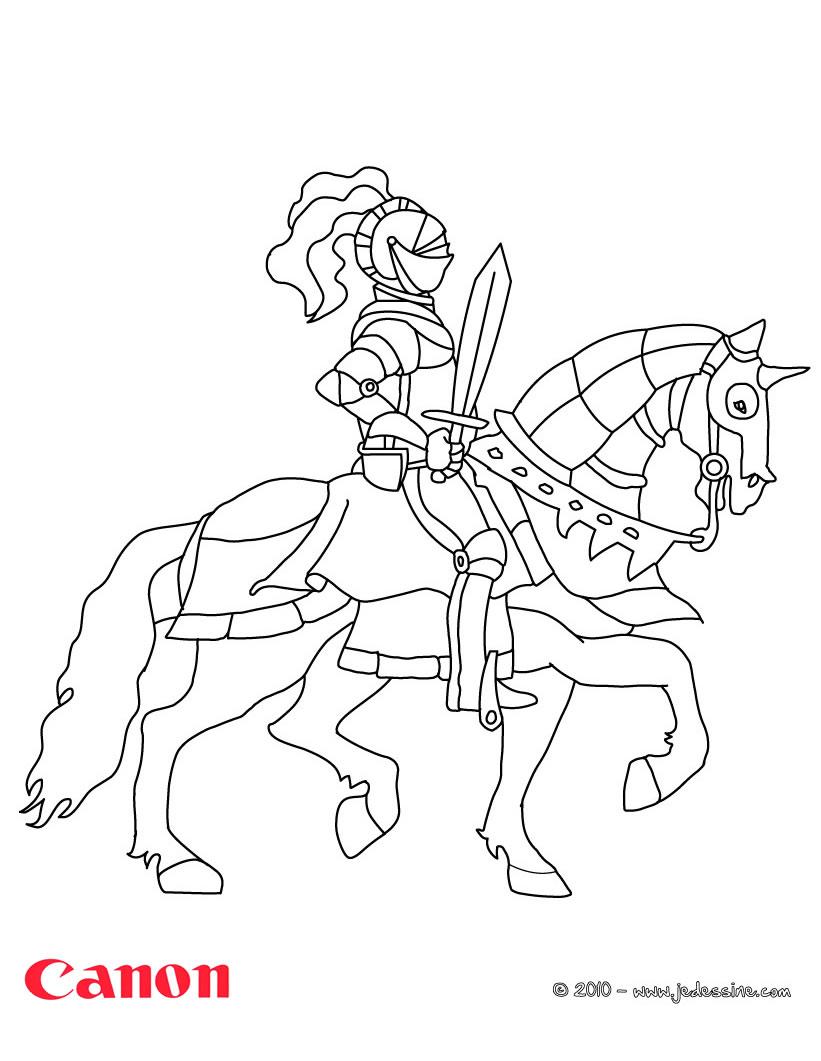 20 dessins de coloriage chevalier en ligne imprimer - Coloriage en ligne superman ...