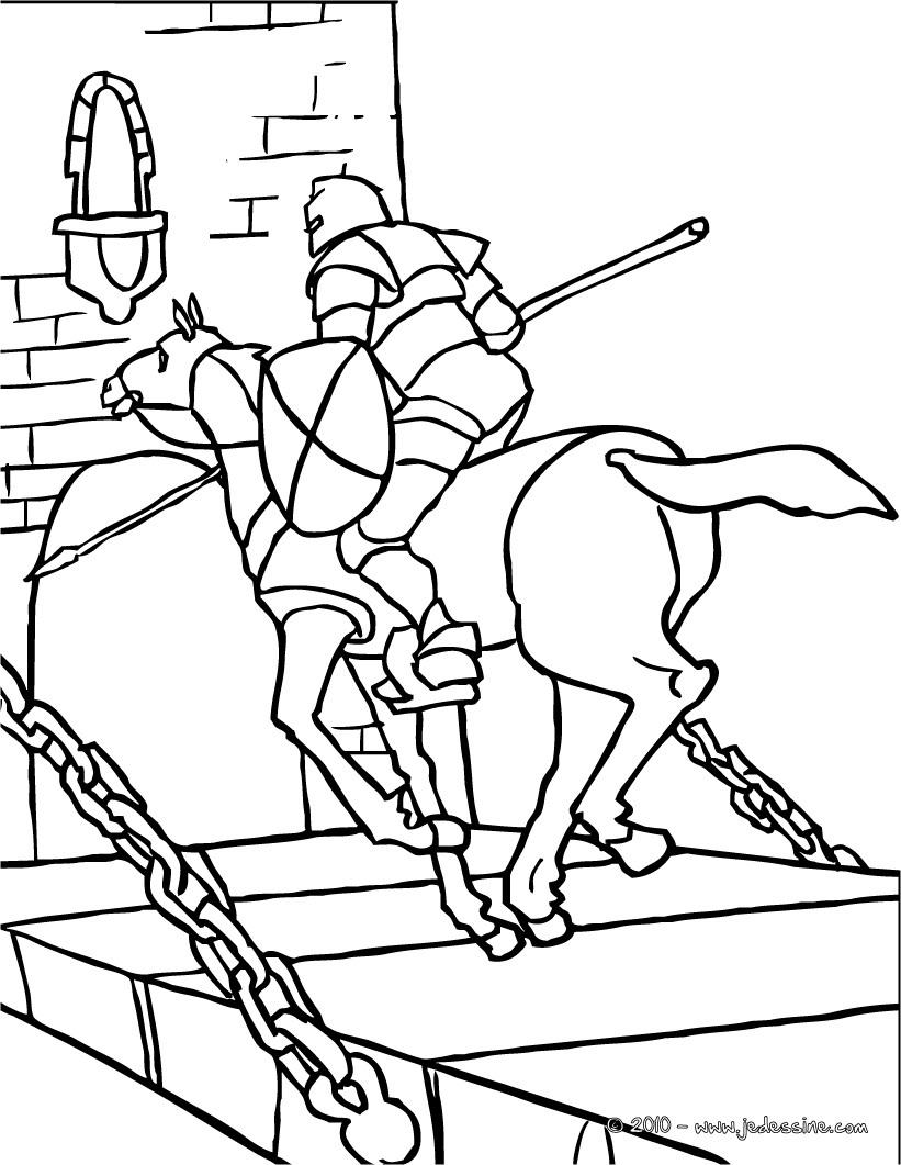 20 dessins de coloriage chevalier en ligne imprimer - Coloriage ligne ...
