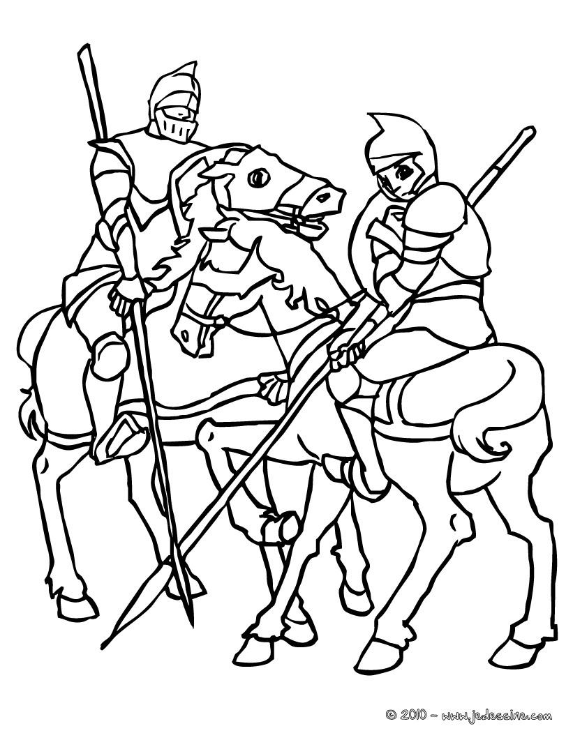 20 dessins de coloriage chevalier imprimer - Dessin anime chevalier de la table ronde ...