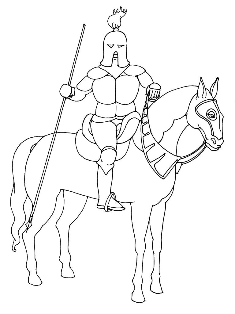 dessin le chevalier