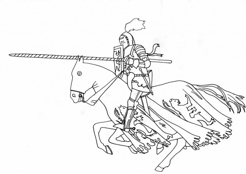 Jeux dessin chevalier - Dessin chevalier ...