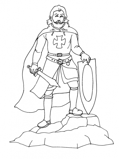 Coloriage chevalier du zodiaque dragon - Image du moyen age a imprimer ...