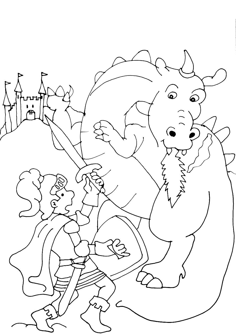 coloriage à dessiner tv chevalier