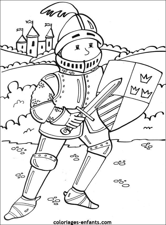 dessin mike le chevalier gratuit