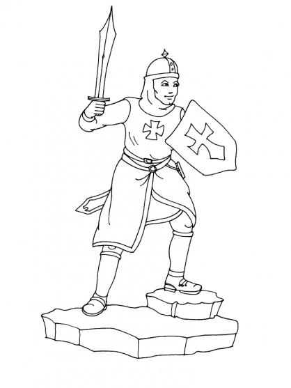 dessin masque chevalier