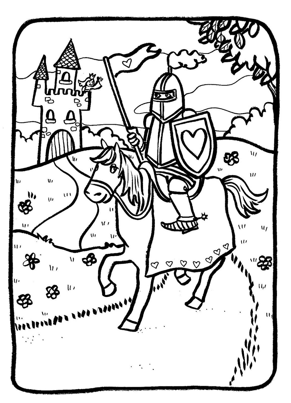 20 dessins de coloriage chevalier imprimer - Dessin chevalier ...