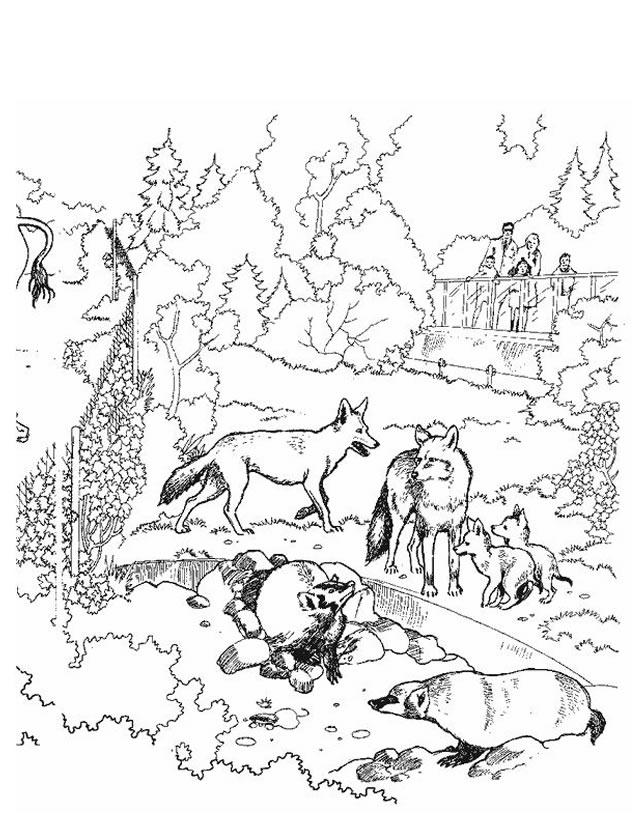 20 dessins de coloriage chevre et loup imprimer - Image loup dessin ...