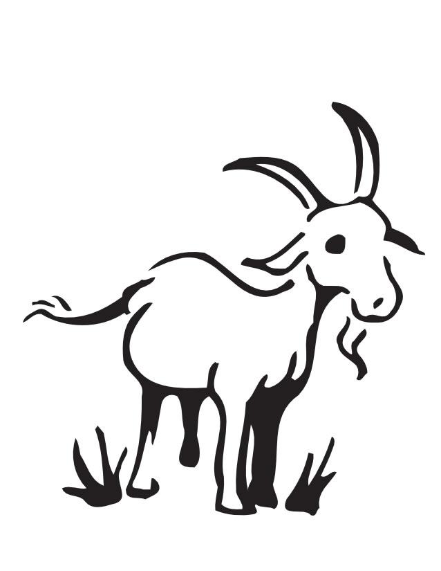 dessin à colorier de chèvre a imprimer