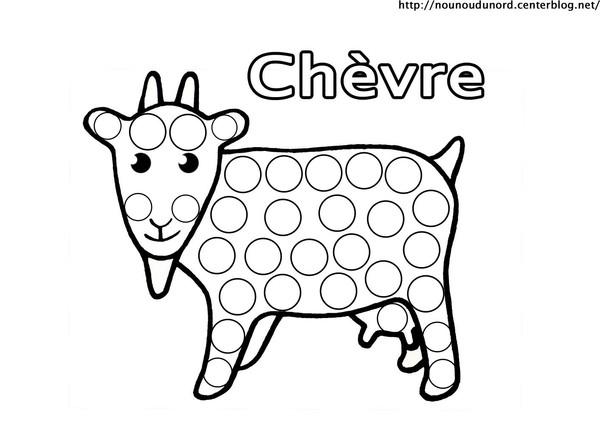 dessin magique chèvre