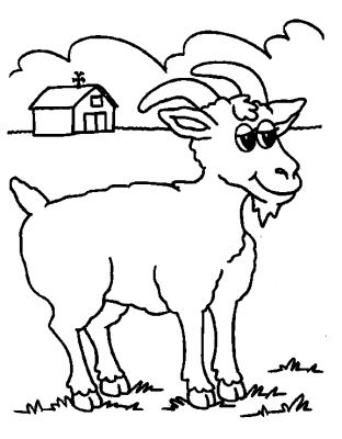 dessin chèvre imprimer