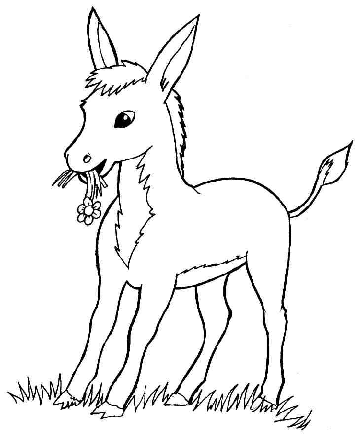 dessin à colorier 7 chevreaux