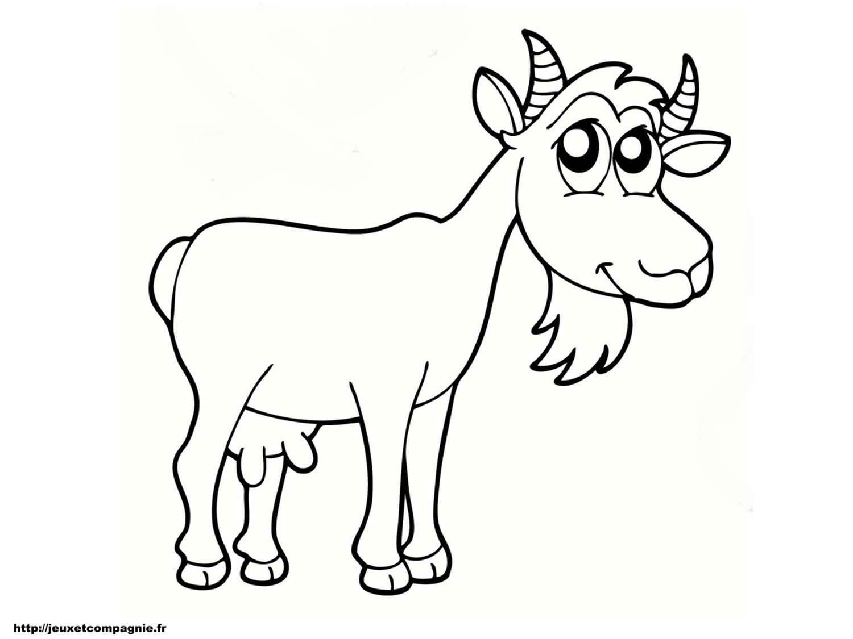 coloriage chèvre de mr seguin