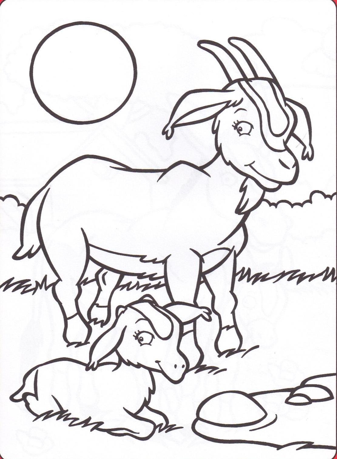 coloriage a dessiner a imprimer gratuit chevre