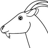 coloriage à dessiner la chèvre et les 7 chevreaux