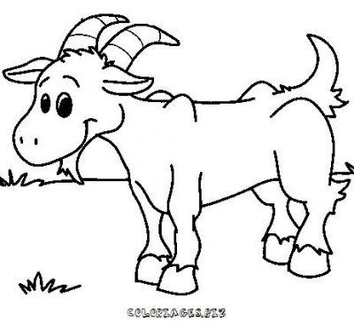 dessin à colorier chèvre de monsieur seguin