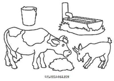 coloriage à dessiner chèvre