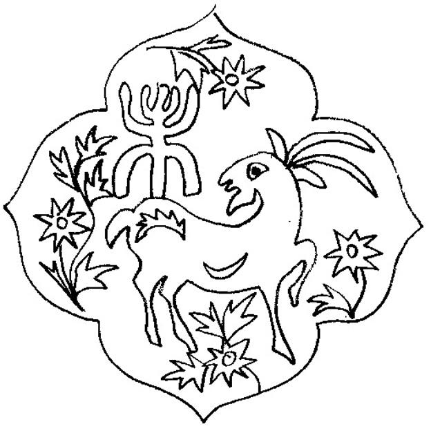 dessin a colorier tete de chevre