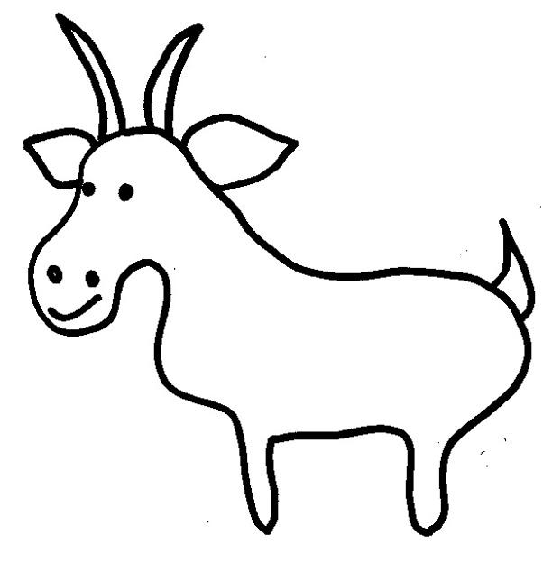 coloriage à dessiner le loup la chèvre et les 7 chevreaux