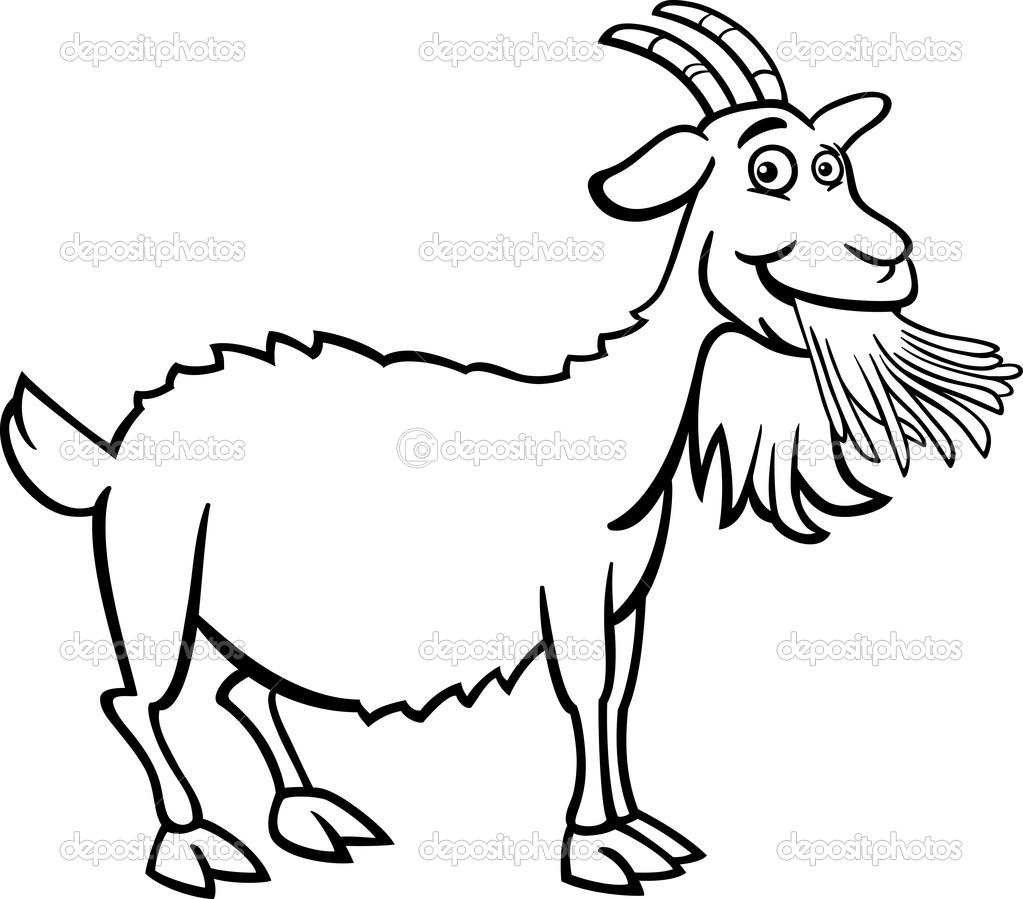 dessin à colorier chèvre de mr seguin
