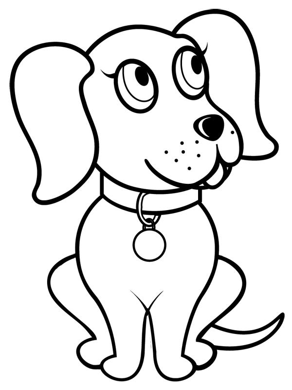 coloriage chien a imprimer gratuit