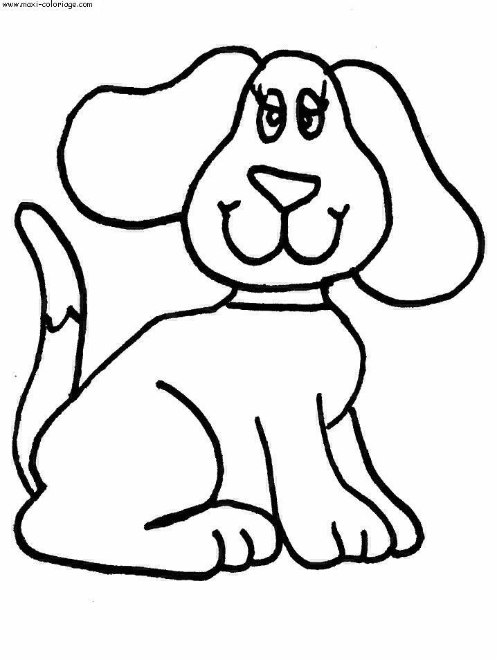 Préférence 20 dessins de coloriage Chien à Imprimer Gratuit à imprimer SO12