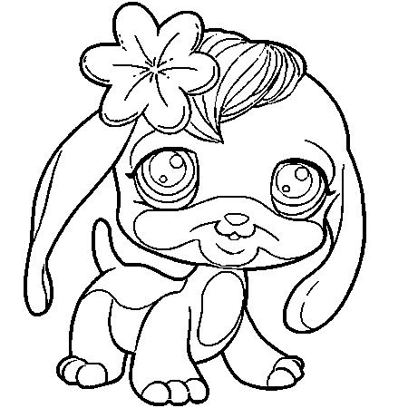 20 dessins de coloriage chien imprimer gratuit imprimer - Coloriage de petshop a imprimer gratuit ...