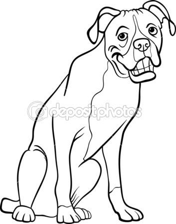 19 dessins de coloriage chien boxer imprimer - Dessin chien boxer ...