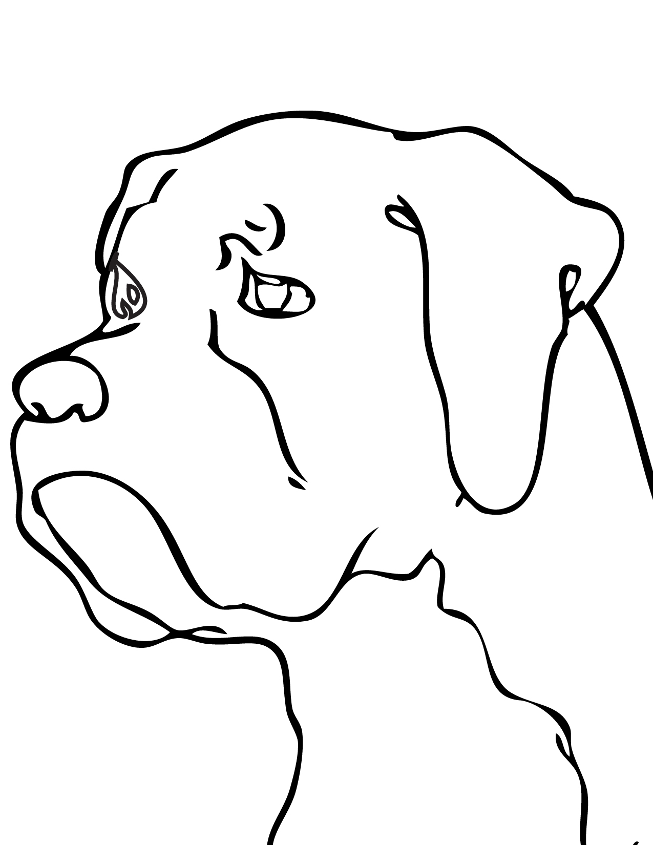 19 dessins de coloriage chien boxer imprimer - Image de chien a imprimer ...