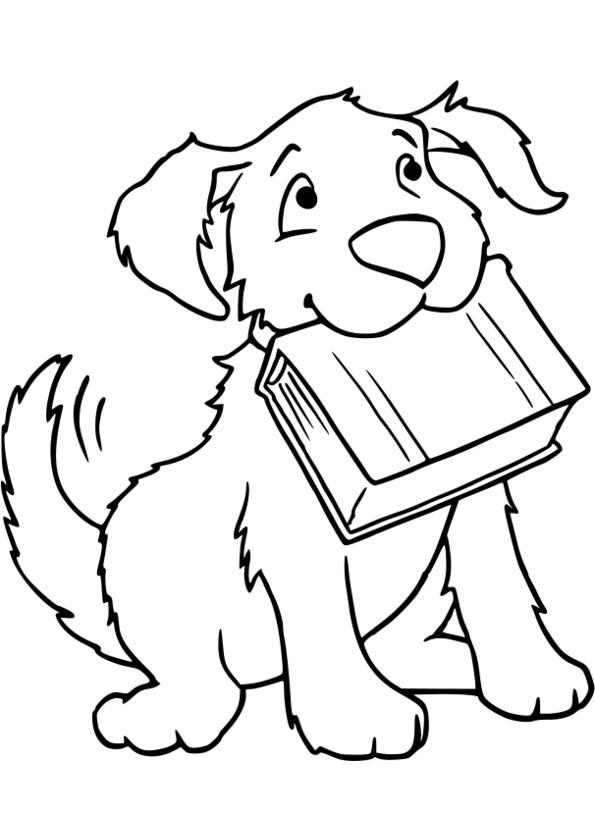 20 dessins de coloriage chien de traineau imprimer - Dessin chien simple ...