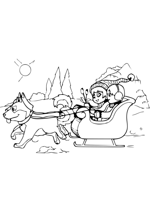 20 dessins de coloriage chien de traineau imprimer - Coloriage de traineau ...